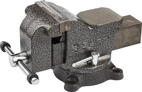 Тиски Зубр 100 мм,  слесарные поворотные  (3258-100), фото 2