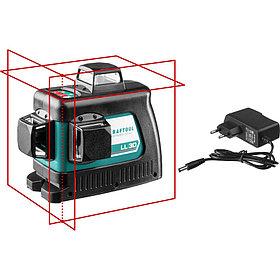 Нивелир лазерный Kraftool, 20-70 м, 360 градусов, сверхъяркий, IP54, точн. 0,2 мм/м,  (34640)