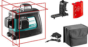 Нивелир лазерный Kraftool, 20-70 м, 360 градусов,, сверхъяркий, IP54, точн. 0,2 мм/м, держатель, в (34640-2)