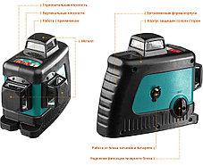 Нивелир лазерный Kraftool, 20-70 м, 360 градусов, сверхъяркий, IP54, точн. 0,2 мм/м, со штативом (34640-3), фото 3