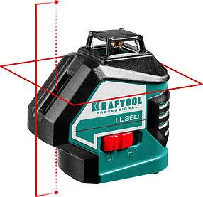 Нивелир лазерный Kraftool, 20-70 м, 360 градусов,, сверхъяркий, IP54, точн. 0,2 мм/м, в сумке (34645)