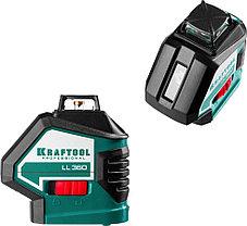 Нивелир лазерный Kraftool, 20-70 м, 360 градусов,, сверхъяркий, IP54, точн. 0,2 мм/м, держатель, в (34645-2), фото 3