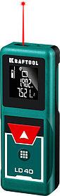 Лазерный дальномер Kraftool, дальность 5 см - 40 м, точность 1,5 мм (34763)