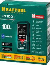 Лазерный дальномер Kraftool, дальность 5 см - 100 м, точность 1,5 мм (34765), фото 2