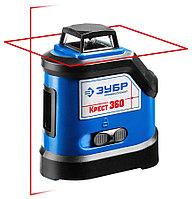 Нивелир лазерный линейный Крест-360, ЗУБР, 20-70 м (с приемником), точн. 0,3 мм/м, двухлучевой (34906)