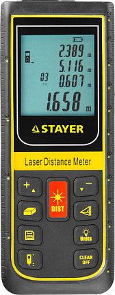 Лазерный дальномер Stayer, дальность 100 м, точность 2 мм (34959), фото 2
