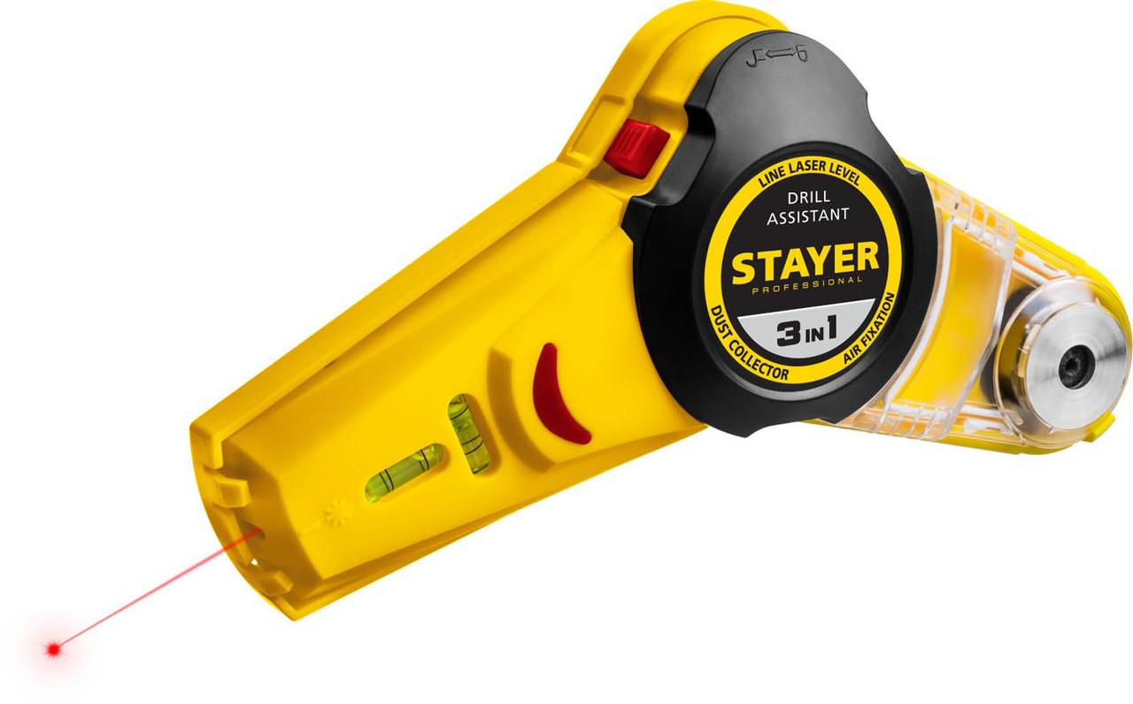 Уровень с приспособлением для сверления Stayer, 7 м, точн. +/-1,5 мм/м (34987)
