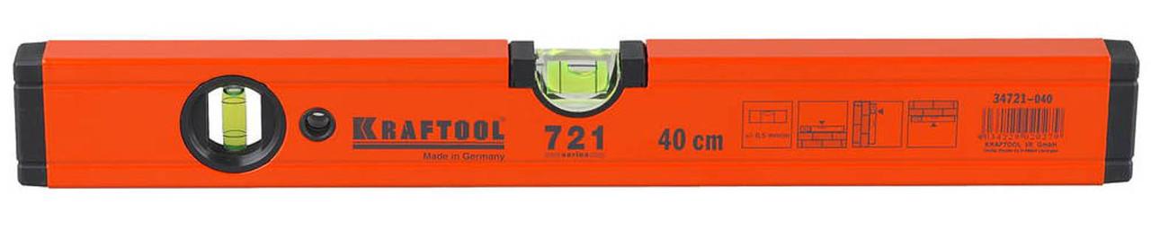 Уровень алюминиевый, Kraftool, 400 мм (34721-040)