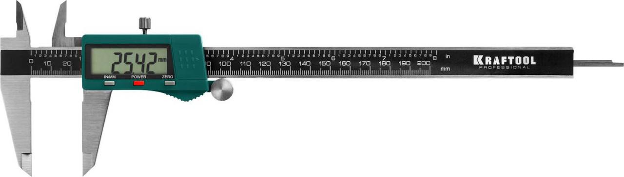 Штангенциркуль электронный, Kraftool, 200 мм (34460-200)