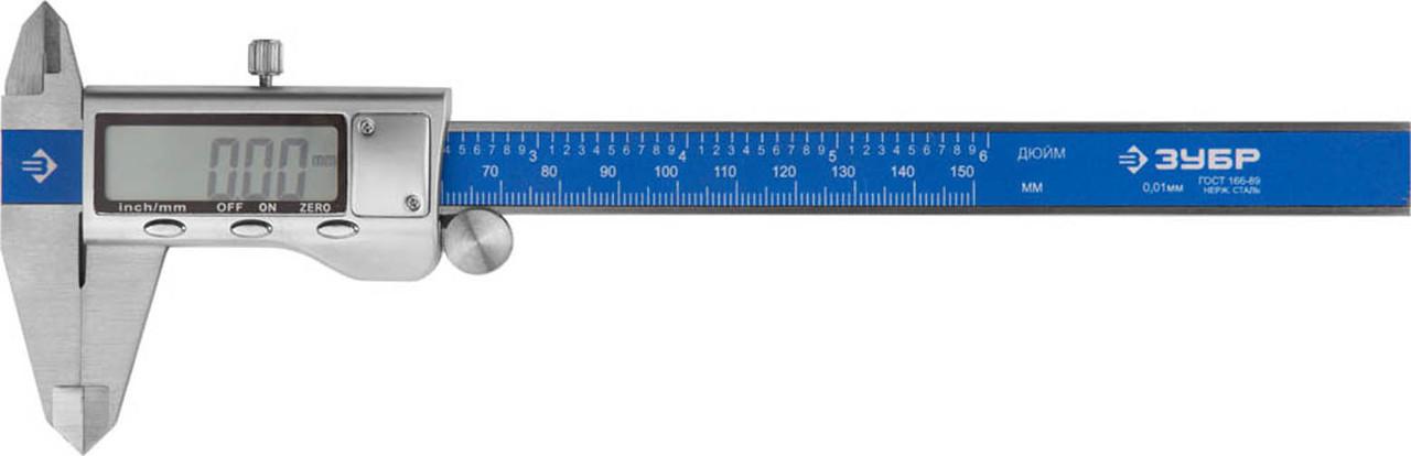 Штангенциркуль электронный ЗУБР, 150 мм (34463-150)