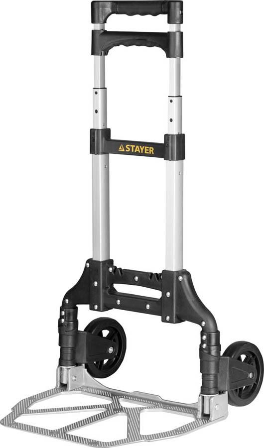 Тележка хозяйственная, Stayer, максимальная нагрузка 70 кг, раскладная (38755-70)