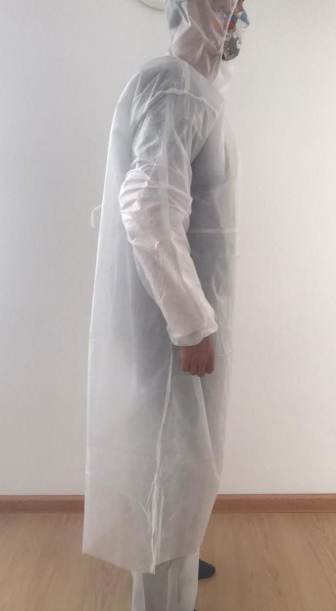 Защитный комплект (комбинезон+халат одноразовый). ПЛОТНОСТЬ 60 спандбонд. - фото 1
