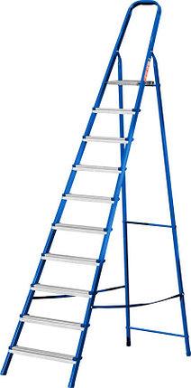 Лестница-стремянка стальная MIRAX, число ступеней 10 (38800-10), фото 2