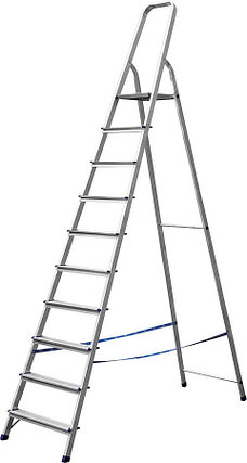 Лестница-стремянка, Сибин,10 ступен.., алюминий, максимальная нагрузка 150 кг (38801-10), фото 2