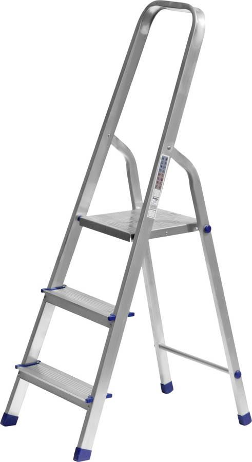 Лестница-стремянка, Сибин, 3 ступен.., алюминий, максимальная нагрузка 150 кг (38801-3)