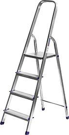 Лестница-стремянка, Сибин, 4 ступен.., алюминий, максимальная нагрузка 150 кг (38801-4)