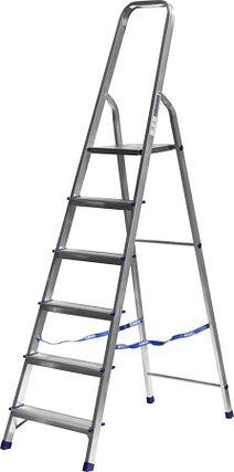 Лестница-стремянка, Сибин, 6 ступен.., алюминий, максимальная нагрузка 150 кг (38801-6), фото 2
