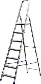 Лестница-стремянка, Сибин, 7 ступен.., алюминий, максимальная нагрузка 150 кг (38801-7)