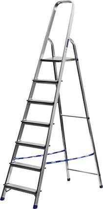 Лестница-стремянка, Сибин, 7 ступен.., алюминий, максимальная нагрузка 150 кг (38801-7), фото 2