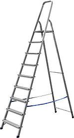 Лестница-стремянка, Сибин, 9 ступен.., алюминий, максимальная нагрузка 150 кг (38801-9)