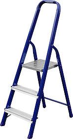 Лестница-стремянка, Сибин, 3 ступен.., алюминий, максимальная нагрузка 150 кг (38803-03)