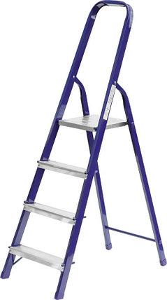 Лестница-стремянка, Сибин, 4 ступен.., алюминий, максимальная нагрузка 150 кг (38803-04), фото 2