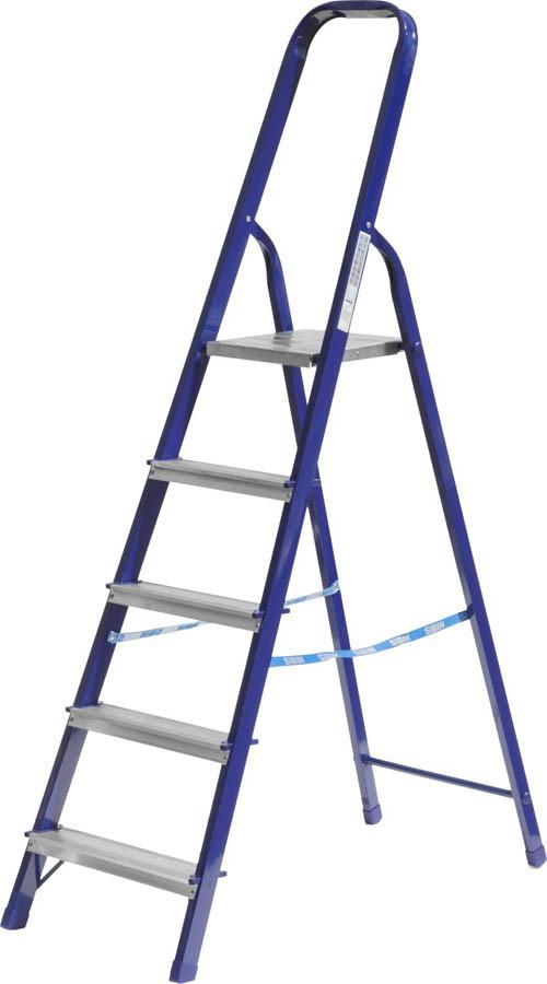 Лестница-стремянка, Сибин, 5 ступен.., алюминий, максимальная нагрузка 150 кг (38803-05)