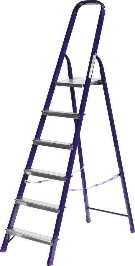 Лестница-стремянка, Сибин, 6 ступен.., алюминий, максимальная нагрузка 150 кг (38803-06)