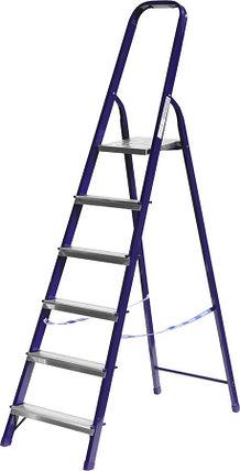 Лестница-стремянка, Сибин, 6 ступен.., алюминий, максимальная нагрузка 150 кг (38803-06), фото 2