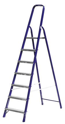 Лестница-стремянка, Сибин, 7 ступен.., алюминий, максимальная нагрузка 150 кг (38803-07), фото 2