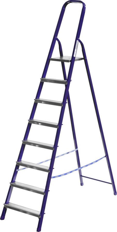 Лестница-стремянка, Сибин, 8 ступен.., алюминий, максимальная нагрузка 150 кг (38803-08)
