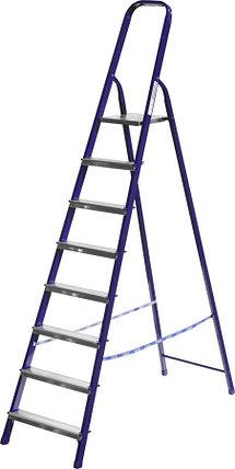 Лестница-стремянка, Сибин, 8 ступен.., алюминий, максимальная нагрузка 150 кг (38803-08), фото 2