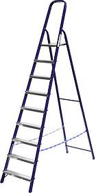 Лестница-стремянка, Сибин, 9 ступен.., алюминий, максимальная нагрузка 150 кг (38803-09)