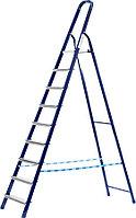 Лестница-стремянка, Сибин, число ступеней 10, алюминий, максимальная нагрузка 150 кг (38803-10)