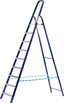 Лестница-стремянка, Сибин, 10 ступен.., алюминий, максимальная нагрузка 150 кг (38803-10), фото 2