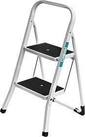 Лестница-стремянка, Сибин, 2, сталь, максимальная нагрузка 150 кг (38807-02_z01)