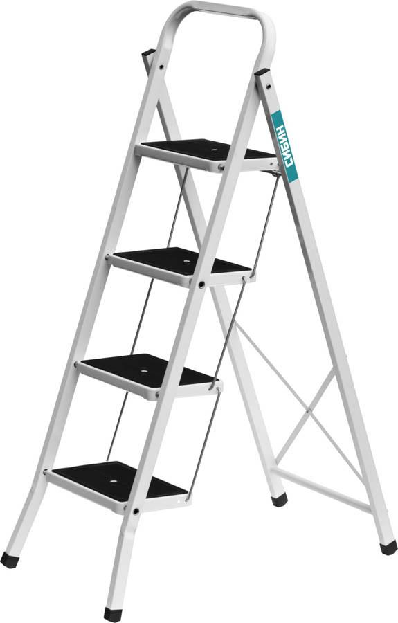 Лестница-стремянка, Сибин, 4, сталь, максимальная нагрузка 150 кг (38807-04_z01)