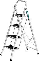 Лестница-стремянка, Сибин, число ступеней 4, сталь, максимальная нагрузка 150 кг (38807-04_z01)