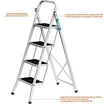 Лестница-стремянка, Сибин, 4, сталь, максимальная нагрузка 150 кг (38807-04_z01), фото 3
