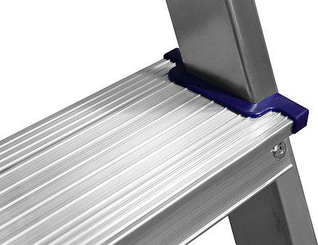 Лестница-стремянка двухсторонняя Сибин, число ступеней 4, алюминий, максимальная нагрузка 150 кг (38825-04), фото 2