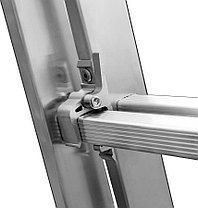 Лестница универс. трехсекционная Сибин, 3 х 7 (секц../ступен..), алюминий, макс нагрузка 150 кг (38833-07), фото 3