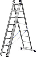 Лестница универс. трехсекционная Сибин, 3 х 8 (секц../ступен..), алюминий, макс нагрузка 150 кг (38833-08)