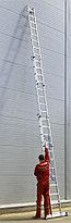 Лестница универс. трехсекционная Сибин, 3 х 12 (секц../ступен..), алюминий, макс нагрузка 150 кг (38833-12), фото 3