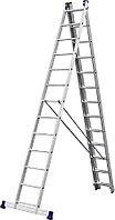 Лестница универс. трехсекционная Сибин, 3 х 13 (секц../ступен..), алюминий, макс нагрузка 150 кг (38833-13)