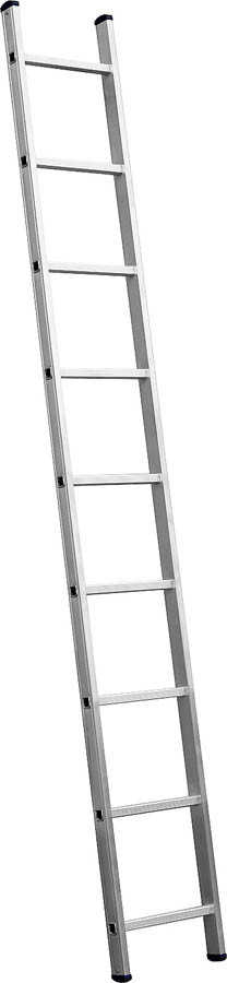 Лестница приставная алюминиевая Сибин, число ступеней 9, алюминий, максимальная нагрузка 150 кг (38834-09)