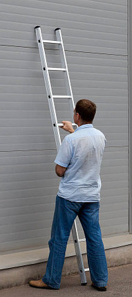 Лестница приставная алюминиевая Сибин, число ступеней 9, алюминий, максимальная нагрузка 150 кг (38834-09), фото 2