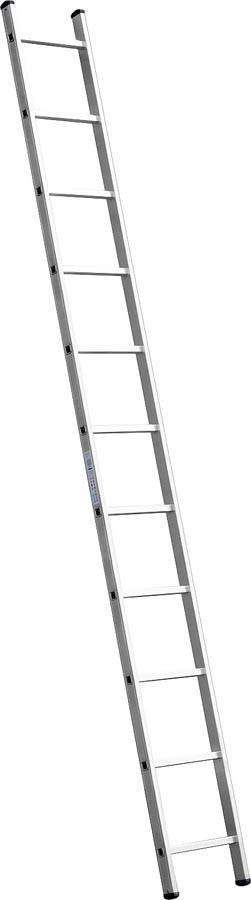 Лестница приставная алюминиевая Сибин, число ступеней 11, алюминий, максимальная нагрузка 150 кг (38834-11)