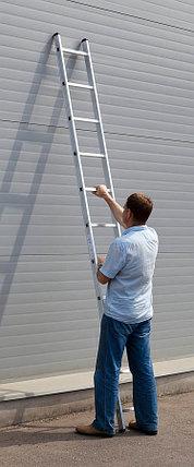 Лестница приставная алюминиевая Сибин, число ступеней 11, алюминий, максимальная нагрузка 150 кг (38834-11), фото 2