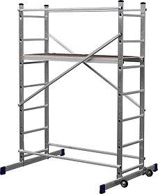 Вышка-тура Сибин, высота платформы 110 см.(макс. 320 см.), алюминий, максимальная нагрузка 150 кг (38840-3)