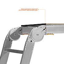 Рабочие подмости РП-36, Сибин, 150 кг, 3 x 6 x 3 ступени, алюминиевые, складные с фикс. площадкой (38843), фото 2